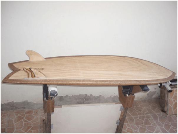 Prancha de surf de Madeira
