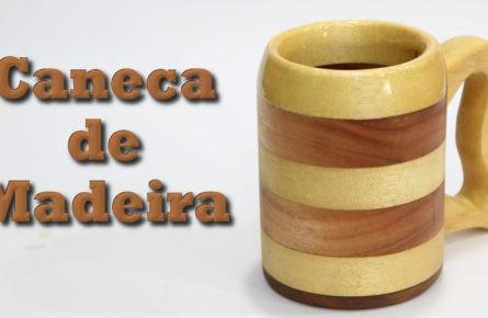 Caneca de Madeira  usando serra tico-tico e furadeira