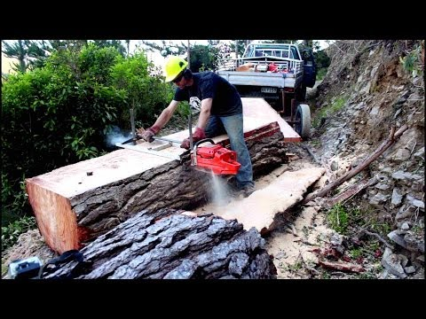 Jig para moto serra – corta tábuas perfeitas a partir de toras