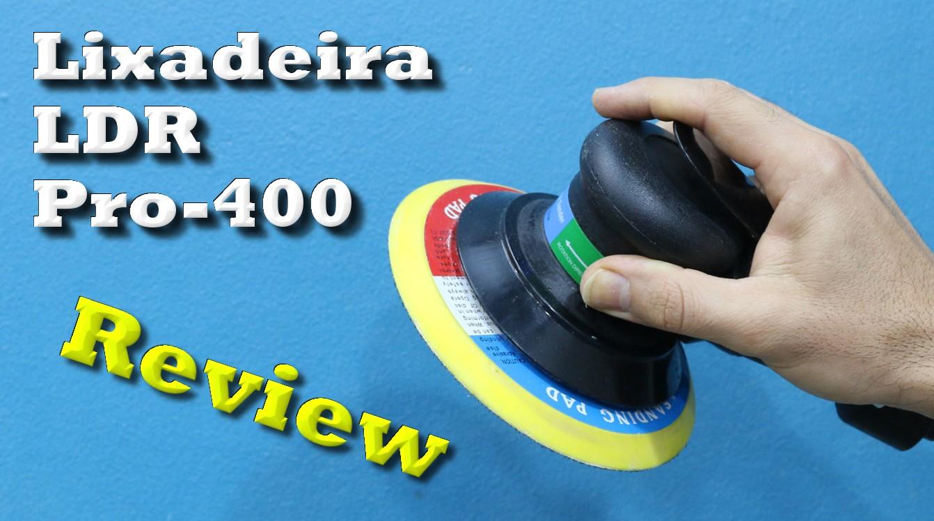 Lixadeira e politriz pneumática (roquite ou hookit) de 6″ LDR PRO- 400