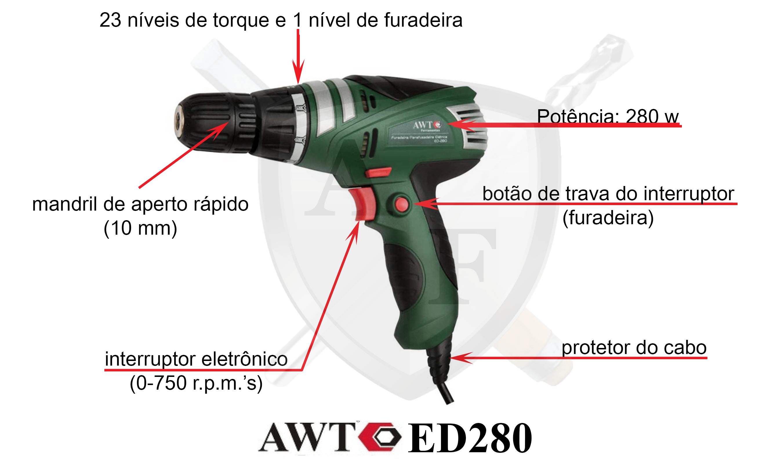 Parafusadeira elétrica AWT ED280 – Review